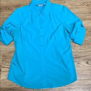 Columbia Blue Omni-Shade Top Size Large